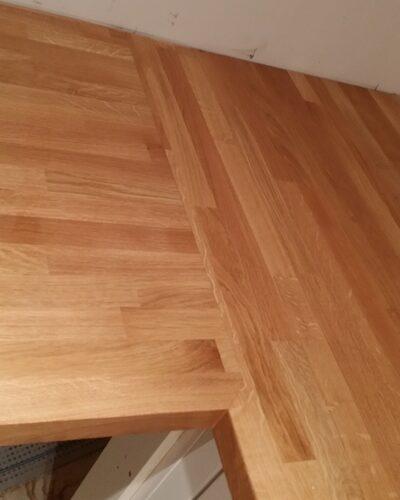 Original Oak Kitchen Laminate With Wood Edge Worktop